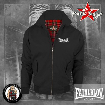 FATAL BLOW CARDIFF HARRINGTON JACKET SCHWARZ / XL