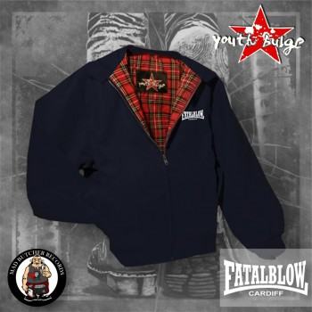 FATAL BLOW CARDIFF HARRINGTON JACKET XL / NAVY