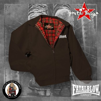 FATAL BLOW CARDIFF HARRINGTON JACKET M / BRAUN