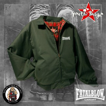 FATAL BLOW CARDIFF HARRINGTON JACKET M / BOTTLEGREEN
