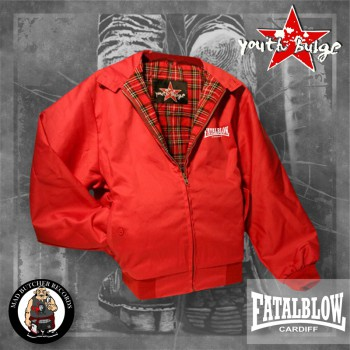 FATAL BLOW CARDIFF HARRINGTON JACKET XL / ROT