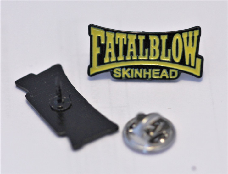 FATAL BLOW SKINHEAD YELLOW PIN