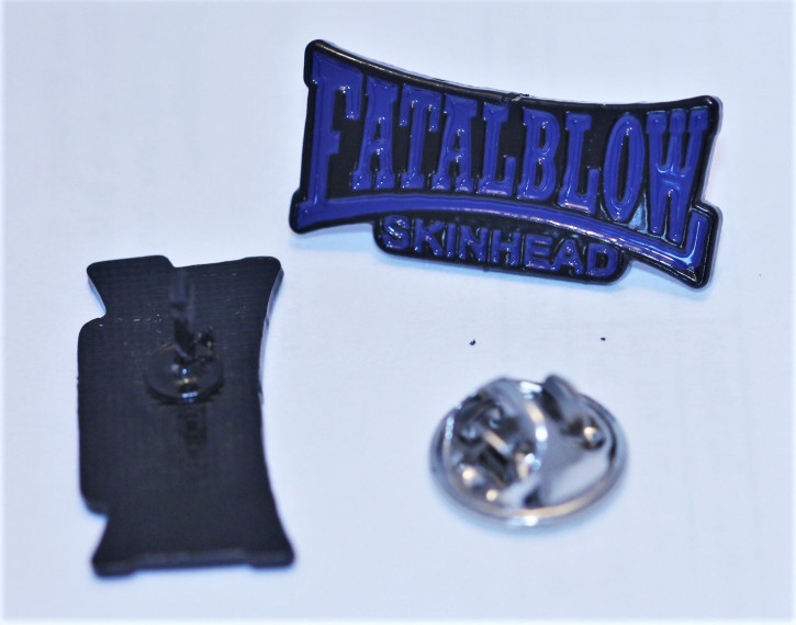 FATAL BLOW SKINHEAD BLUE PIN
