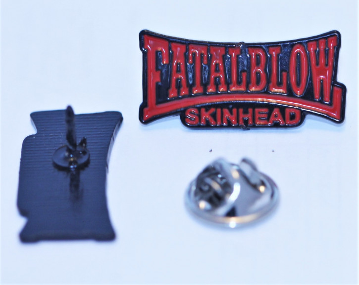 FATAL BLOW SKINHEAD RED PIN