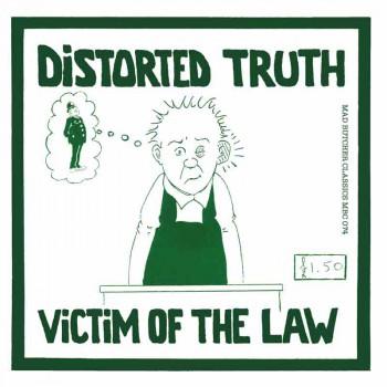 DISTORTED TRUTH VICTIM OF THE LAW EP VINYL SCHWARZ