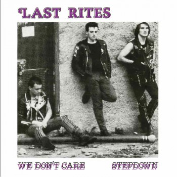 LAST RITES WE DON`T CARE 7 EP LILA VINYL