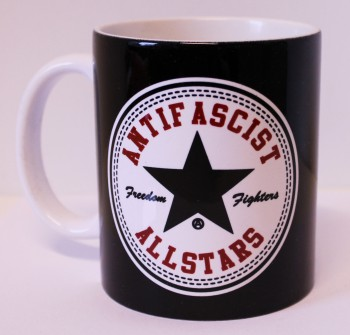 ANTIFASCIST ALLSTARS KAFFEEBECHER (BLACK)