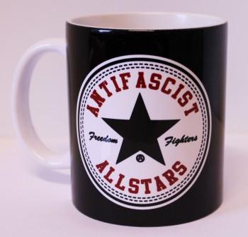 ANTIFASCIST ALLSTARS KAFFEEBECHER (BLACK)