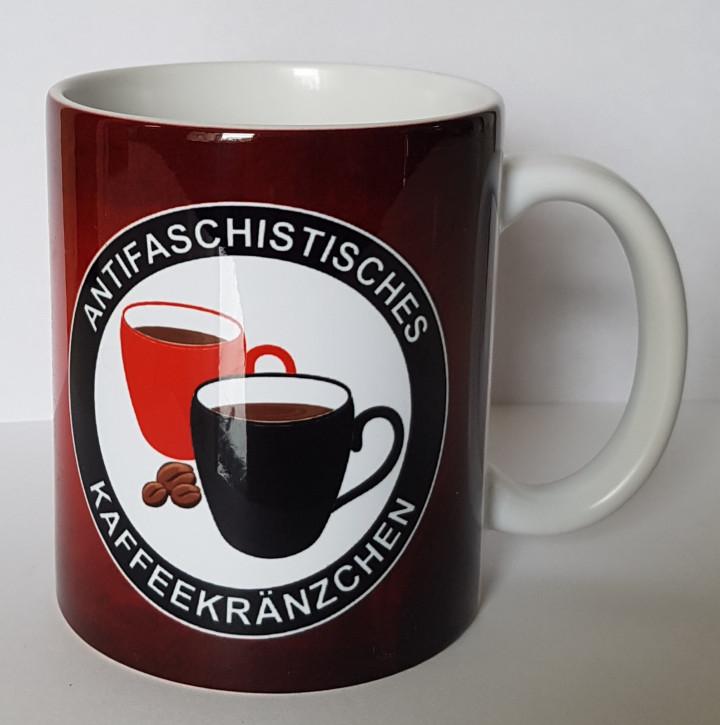 ANTIASCHISTISCHES KAFFEEKRÄNZCHEN KAFFEEBECHER