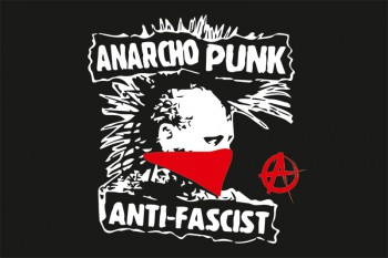 ANARCHO PUNK ANTIFASCIST FLAG
