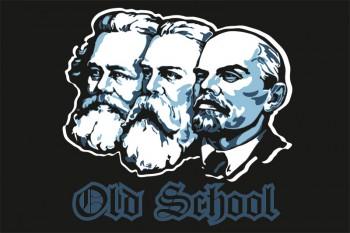 OLD SCHOOL (MARX,ENGELS,LENIN) FLAG