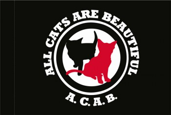 ALL CATS ARE BEAUTIFUL FLAG