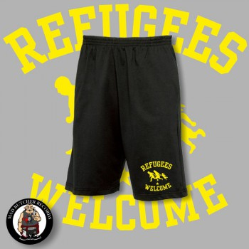 REFUGEES WELCOME SHORTS XL