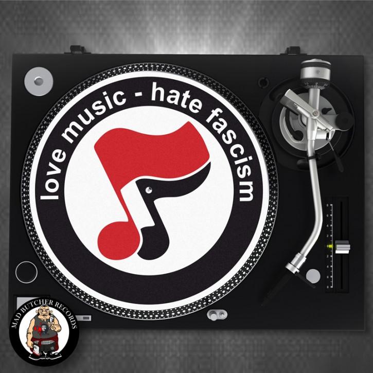 LOVE MUSIC HATE FASCISM SLIPMAT
