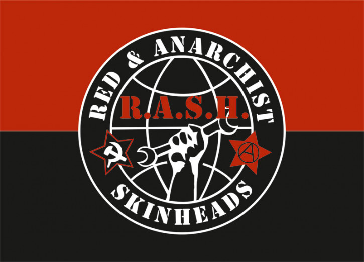 RED & ANARCHIST SKINHEADS STICKER (10 STÜCK)