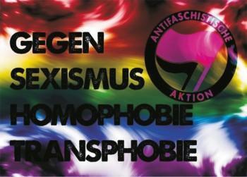 GEGEN SEXISMUS HOMOPHOBIE TRANSPHOBIE STICKER (10 units)