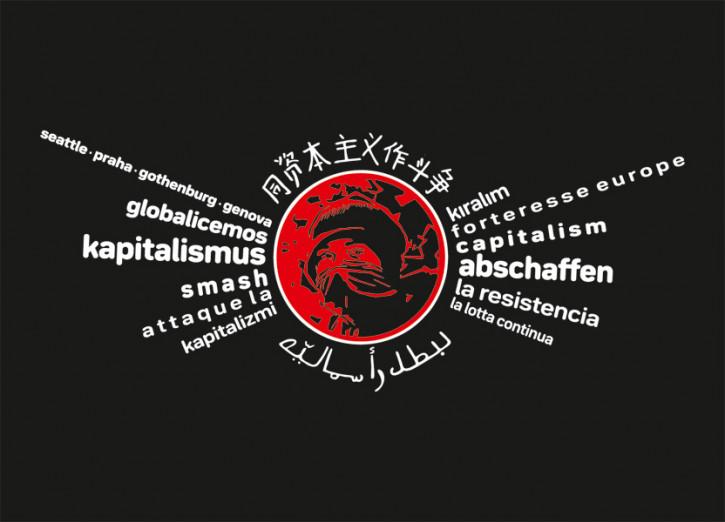 KAPITALISMUS ABSCHAFFEN AUFKLEBER (10 STÜCK)