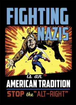 FIGHTING NAZIS (STOP ALT-RIGHT) STICKER (10 units)
