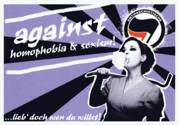AGAINST HOMOPHOBIA & SEXISM STICKER (10 STÜCK)
