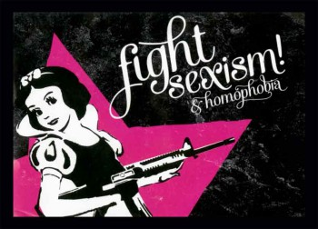 FIGHT SEXISM & HOMOPHOBIA STICKER (10 UNITS)