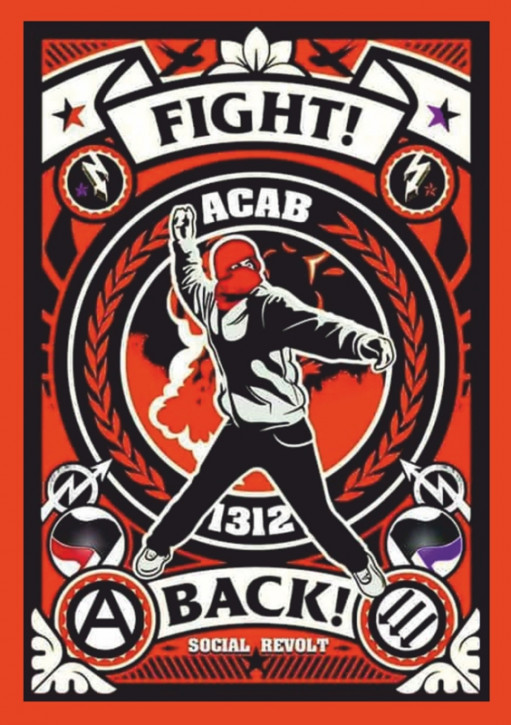 FIGHT BACK AUFKLEBER (10 Stück)