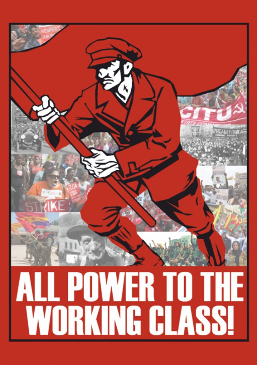 ALL POWER TO THE WORKING CLASS STICKER (10 units)