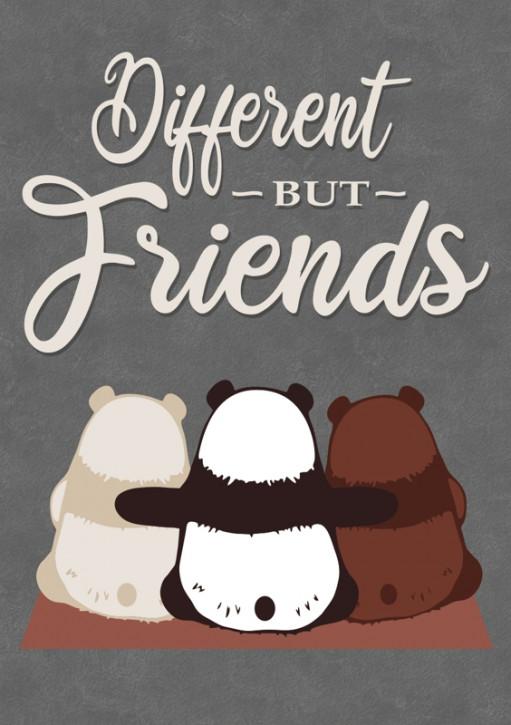 DIFFERENT BUT FRIENDS AUFKLEBER (10 Stück)