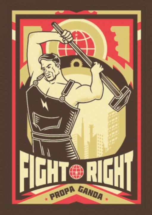 FIGHT RIGHT PROPAGANDA AUFKLEBER (10 Stück)