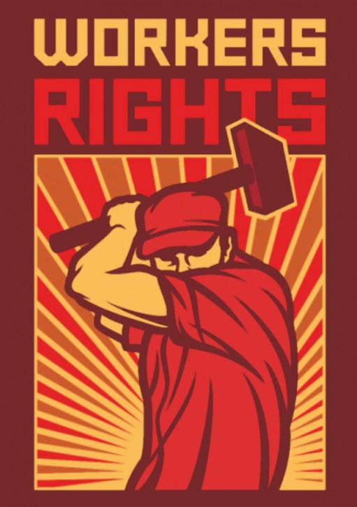 WORKERS RIGHTS AUFKLEBER (10 Stück)
