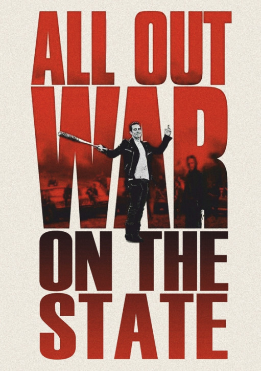 ALL OUT WAR ON THE STATE AUFKLEBER (10 Stück)