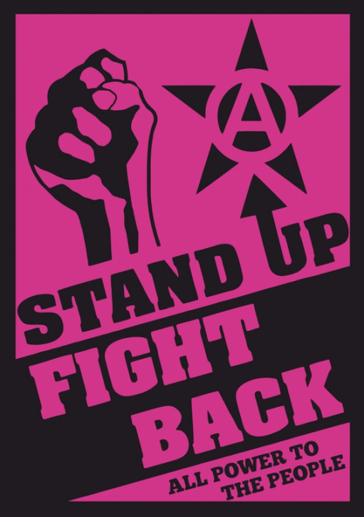 STAND UP FIGHT BACK AUFKLEBER (10 Stück)