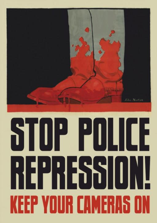 STOP POLICE REPRESSION AUFKLEBER (10 Stück)