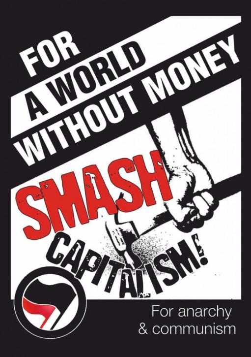 FOR A WORLD WITHOUT MONEY AUFKLEBER (10 Stück)