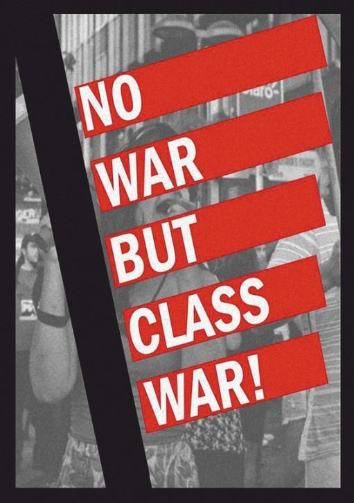 NO WAR BUT CLASSWAR AUFKLEBER (10 Stück)