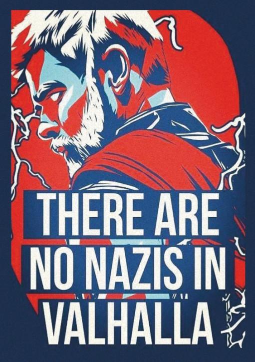 THERE ARE NO NAZIS IN VALHALLA AUFKLEBER (10 Stück)