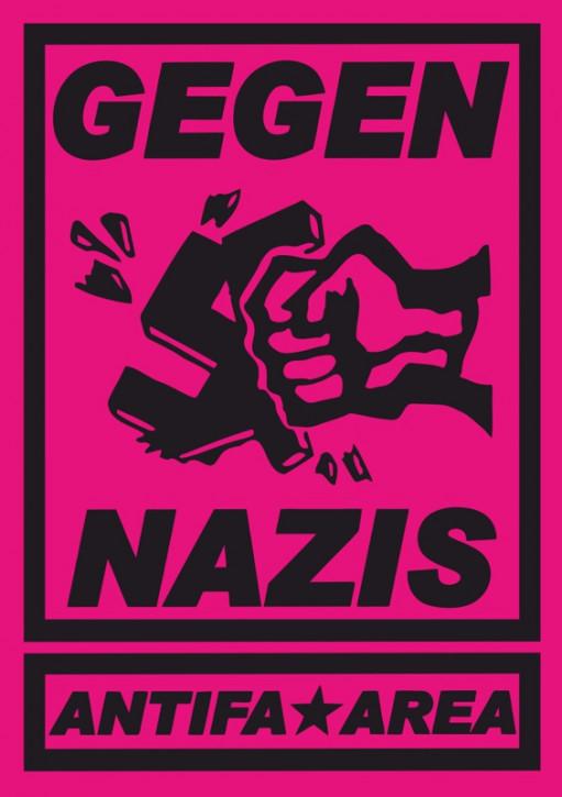 GEGEN NAZIS PINK AUFKLEBER (10 Stück)