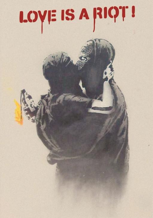 LOVE IS A RIOT AUFKLEBER (10 Stück)