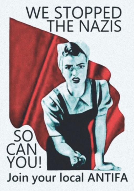 WE STOPPED THE NAZIS AUFKLEBER (10 Stück)