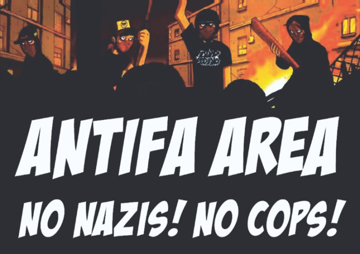 ANTIFA ZONE NO COPS NO NAZIS AUFKLEBER (10 Stück)
