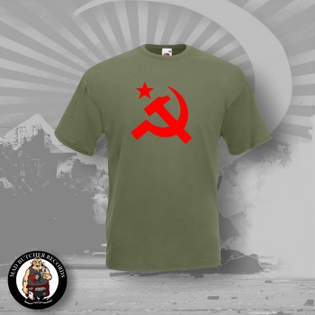HAMMER & SICKLE T-SHIRT OLIV