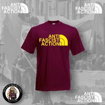 ANTI FASCIST ACTION T-SHIRT RED (FLOCK)