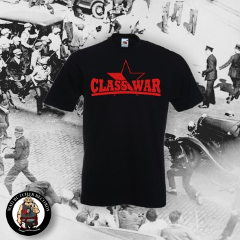 CLASSWAR RED/BLACK STAR T-SHIRT L