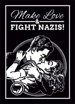 MAKE LOVE & FIGHT NAZIS STICKER (10 STÜCK)