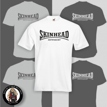SKINHEAD ANTIFASCIST T-SHIRT WEISS