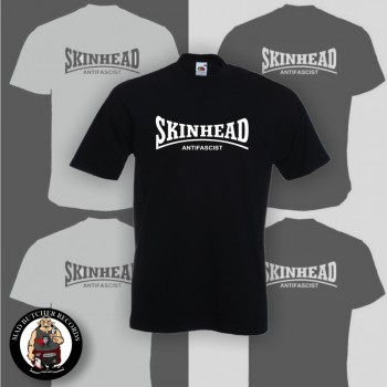 SKINHEAD ANTIFASCIST T-SHIRT SCHWARZ