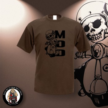 MOD SCOOTER T-SHIRT S / brown