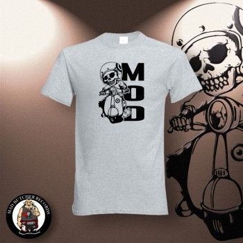 MOD SCOOTER T-SHIRT GRAU / 4XL
