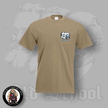 OLD SCHOOL SMALL T-SHIRT L / BEIGE