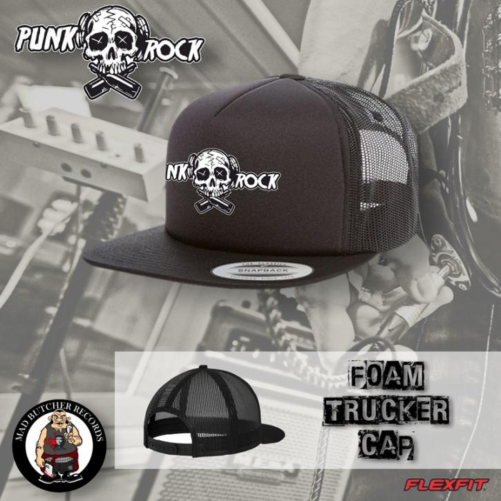 PUNKROCK SKULL MESHCAP Black