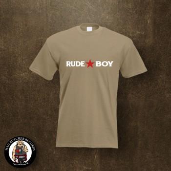 RUDE BOY REDSTAR T-SHIRT XL / BEIGE